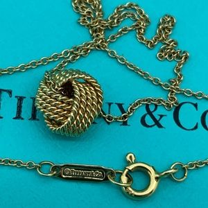 Tiffany & Co.18 KT Knot Pendant On 18 Inches Chain